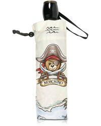 Moschino - Pirate Bear Grey Umbrella - Lyst