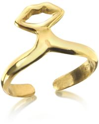 Bernard Delettrez - Small Bronze Midi Ring W/mouth - Lyst