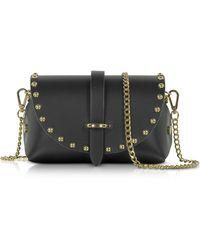 Le Parmentier - Caviar Mini Black Leather Shoulder Bag W/studs - Lyst
