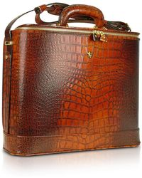 Pratesi - Croco Stamped Leather Laptop Business Bag W/courtesy Light - Lyst