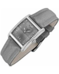 Raymond Weil - Don Giovanni - Diamond Frame & Satin Gray Band Dress Watch - Lyst