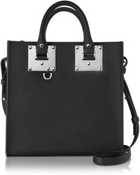 Sophie Hulme - Black Saddle Leather Square Albion Tote - Lyst