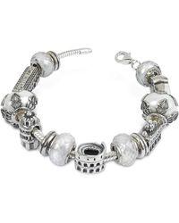 Tedora   Sterling Silver Italian Journey Bracelet   Lyst