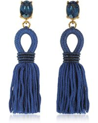 Oscar de la Renta - Blue Other Materials Earrings - Lyst