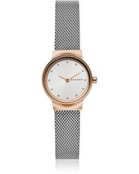 Skagen - Freja Two-tone Steel-mesh Women's Watch - Lyst