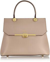 Le Parmentier - Atlanta Genuine Leather Top Handle Satchel Bag W/shoulder Strap - Lyst