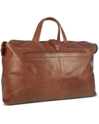 Robe Di Firenze | Large Brown Italian Leather Carry All Travel Bag | Lyst