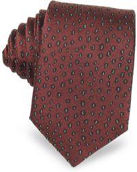 Lanvin - Abstract Woven Twill Silk Narrow Tie - Lyst