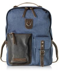 The Bridge - Carver-d Canvas And Leather Men's Backpack W/top Zip - Lyst