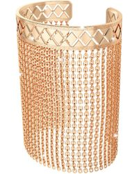 Rebecca - Melrose Yellow Gold Over Bronze Mesh Bracelet - Lyst