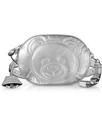 Moschino - Teddy Bear Laminated Leather Belt Bag - Lyst