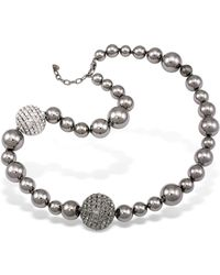 AZ Collection - Mirror Polished Ball Necklace - Lyst