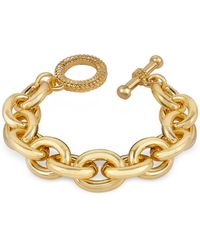 AZ Collection - Gold Plated Chain Toggle Bracelet - Lyst