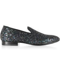 Jimmy Choo - Thame Glitter Slippers - Lyst
