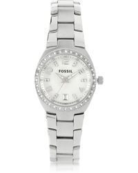 Fossil - Stainless Steel & Crystals Women's Bracelet Watch - Lyst