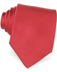 FORZIERI - Solid Silk Tie - Lyst