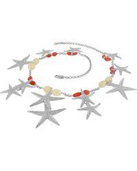 FORZIERI - Starfish Pendants Sterling Silver Gemstones Necklace - Lyst