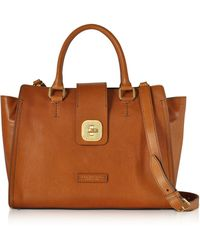 The Bridge | Large Leather Top Handle Satchel Bag | Lyst