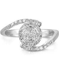 FORZIERI - 035 Ctw Diamond Pave 18k White Gold Ring - Lyst
