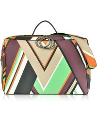 Emilio Pucci - Mint Green And Burgundy Oversized Top-handle Bag - Lyst