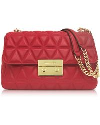Michael Kors - Bright Red Sloan Large Quilted-leather Shoulder Bag - Lyst