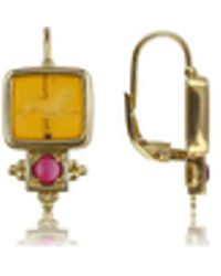 Tagliamonte - Classics Collection - Ruby And 18k Gold Earrings - Lyst