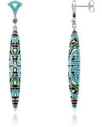 Thomas Sabo - Blackened Sterling Silver Glass-ceramic Stones Pendant Earrings - Lyst