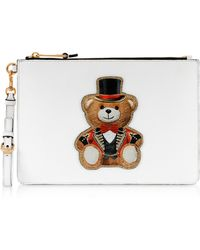 Moschino - White Teddy Circus Clutch - Lyst