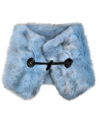 Carven - Faux-fur Collar W/leather Toggle - Lyst