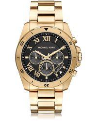 Michael Kors - Brecken Goldtone Stainless Steel Men's Cronograph Watch - Lyst
