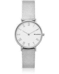 Skagen - Hald Silk-mesh Women's Watch - Lyst