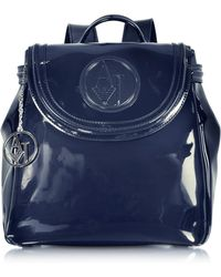 Armani Jeans - Faux Patent Leather Backpack - Lyst