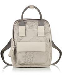 Alviero Martini 1A Classe - Free Spirit Softy Ash Gray Fabric And Leather Backpack - Lyst