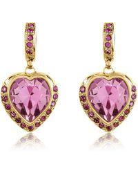AZ Collection - Heart Drop Earrings - Lyst