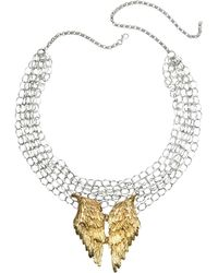 Bernard Delettrez - Silver Chains With Bronze Wings Necklace - Lyst