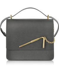 Sophie Hulme - Charcoal Medium Straw Bag - Lyst