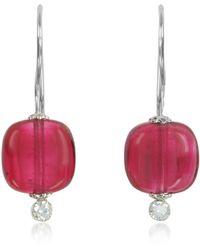 Antica Murrina - Florinda Ruby Murano Glass Sterling Silver Earrings - Lyst