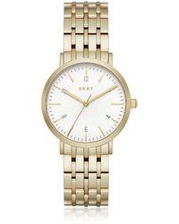 DKNY - Minetta Gold Tone Women's Watch - Lyst