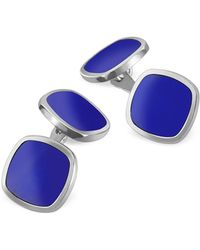 FORZIERI - Blue Square Sterling Silver Double Sided Cufflinks - Lyst