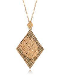 Azhar - Rosa Silver And Zircon Pendant Necklace - Lyst