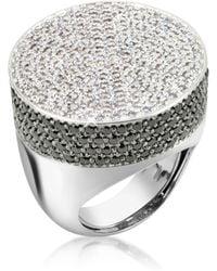 Azhar - Cubic Zirconia And Zircon Cocktail Ring - Lyst