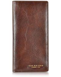 The Bridge - Dark Brown Leather Wallet - Lyst