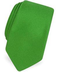 FORZIERI - Solid Twill Silk Narrow Tie - Lyst
