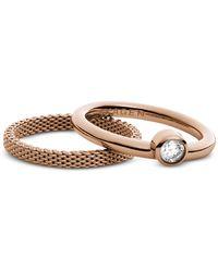 Skagen - Rose Goldtone Stainless Steel Elin Women's Ring - Lyst