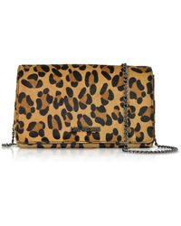 Love Moschino - Animal Printed Synthetic Pony Hair Leather Shoulder Bag - Lyst