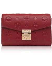MCM - Millie Monogrammed Leather Small Crossbody Bag - Lyst