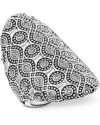 Thomas Sabo - Rebel Icon Sterling Silver Ring W/cubic Zirconia - Lyst