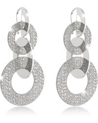 Rebecca - R-zero Rhodium Over Bronze Dangle Earrings - Lyst