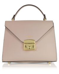 Le Parmentier - Peggy Leather Top Handle Satchel Bag - Lyst