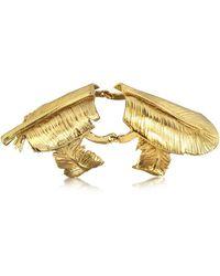 Bernard Delettrez - Bronze Articulated Feather Ring - Lyst